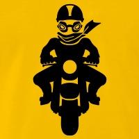 Accessoires und T-Shirts Motorradfahrer vintage gestalten