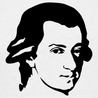 T-shirts Mozart Porträt personnalisés