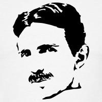 Accessoires und T-Shirts Nikola Tesla Porträt gestalten