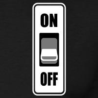 Accessoires und T-Shirts ON OFF Schalter gestalten