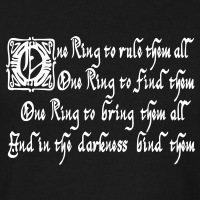 T-shirts One Ring Keltish Sauron personnalisés