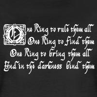 Accessoires und T-Shirts One Ring Tolkien Zitat gestalten