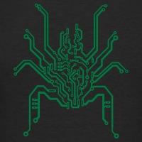 Accessoires und T-Shirts PCB bionische Spinne gestalten