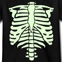 T-shirts Phosphoreszierend Skelett personnalisés