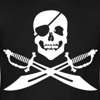 Accessoires und T-Shirts Pirat mit Augenbinde gestalten