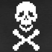 Accessoires und T-Shirts Pirat Pixels Knochen gestalten