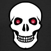 Accessoires und T-Shirts Piraten Totenkopf rote Augen gestalten