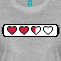 Accessoires und T-Shirts Pixel Lifebar mit Herzen gestalten