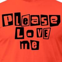 Accessoires und T-Shirts Please love me gestalten