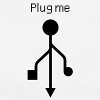 Accessoires und T-Shirts Plug me USB gestalten