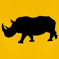 T-shirts Rhinozeros Profil Nashorn personnalisés