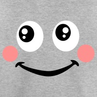 T-shirts Rote Backen Smiley personnalisés