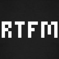 Accessoires und T-Shirts rtfm Pixels gestalten