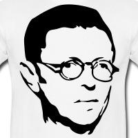Accessoires und T-Shirts Sartre Porträt gestalten