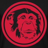 Accessoires und T-Shirts Schimpanse Medaillon gestalten
