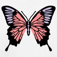 Accessoires und T-Shirts Schmetterling 3 Farben gestalten