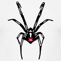 Accessoires und T-Shirts Schwarze Spinne Reflexe gestalten