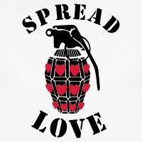 Accessoires und T-Shirts Spread love und Granate gestalten