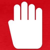 Accessoires und T-Shirts Stop Hand Pikto gestalten