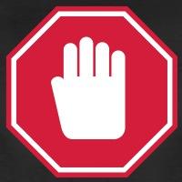 Accessoires und T-Shirts Stop Hand Strassenschild gestalten