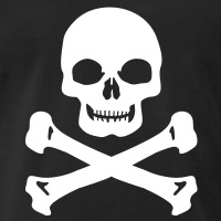 Accessoires und T-Shirts Massiver Totenkopf gestalten