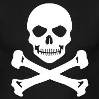 Accessoires und T-Shirts Totenkopf Grinsen gestalten