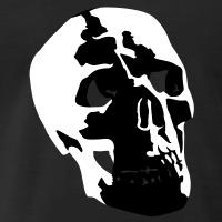 Accessoires und T-Shirts Totenkopf menschlicher Schädel gestalten