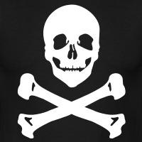 Accessoires und T-Shirts Totenkopf und Knochen gestalten