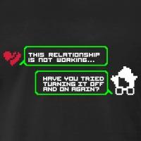 Accessoires und T-Shirts Turning it off Relationship gestalten