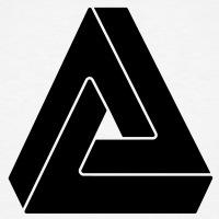 Accessoires und T-Shirts Unmögliches Dreieck optische Täuschung gestalten