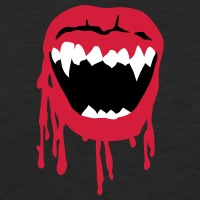 T-shirts Vampir Mund Halloween personnalisés