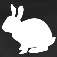 T-shirts Weisses Kaninchen personnalisés