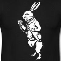 Accessoires und T-Shirts Weisse Kaninchen Alice umgekehrt gestalten