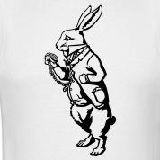 T-shirts Weisse Kaninchen Wunderland personnalisés