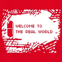 Accessoires und T-Shirts Welcome real world umgekehrt gestalten