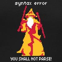 T-shirts You shall not pass dunkel personnalisés