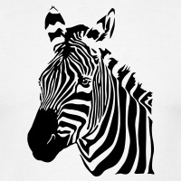 T-shirts Zebra Streifen personnalisés