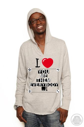 Hoodie I Love. T-Shirts und Accessoires Druck