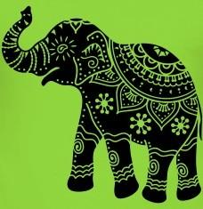 T-shirts Elefant Indien personnalisés
