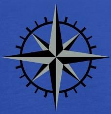Accessoires und T-Shirts Kompass Rose gestalten