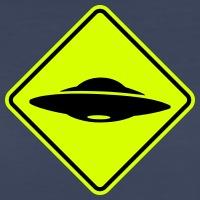 UFO Strassenschild, Flying Saucer