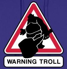 Accessoires und T-Shirts Warning Troll gestalten