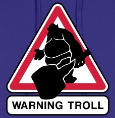 T-shirts Warning Troll personnalisés
