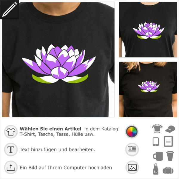 Lotus Blume Design. 2 Farben Lotus Blume für T-Shirt Druck.