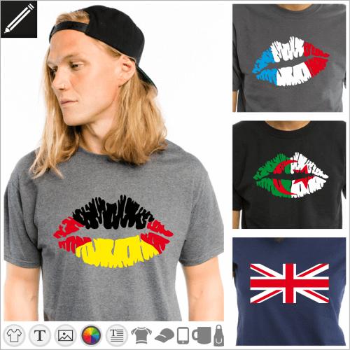 Nummern Designs. Gestalte dein T-Shirt