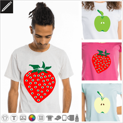 Gestalte dein Frucht T-Shirt
