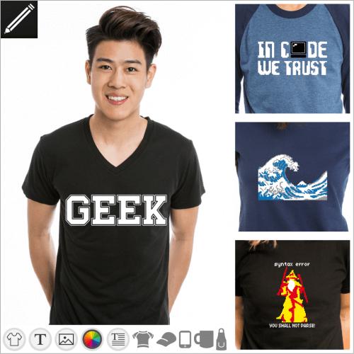 Gestalte dein Geek T-Shirt online