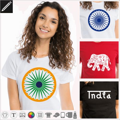 Gestalte dein Indien T-Shirt online