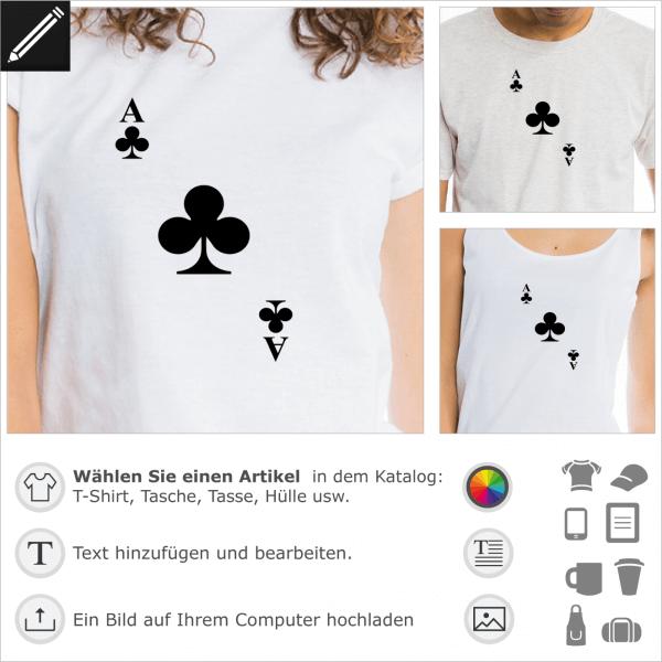 Kreuz Karte.Kreuz Ass T Shirt Selbst Gestalte Dein Karte T Shirt Kreuz T Shirts