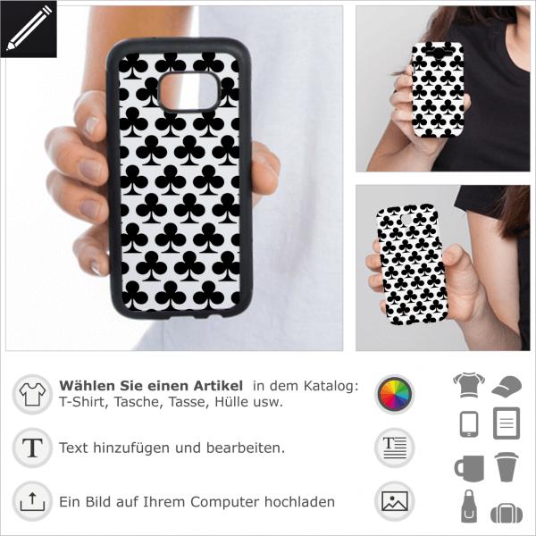 Kreuz Design für personalisierte iPhone Hülle. Gestaltbare iPhone Cases mit Poker Designs.